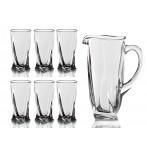 "Набор для сока ""Квадро"" 7 предметов: кувшин + 6 стаканов"
