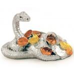 Статуэтка Змея(серебр) с монетами