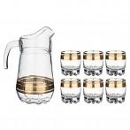 """Набор для сока """"Греция"""" 7 предметов: кувшин + 6 стаканов"""
