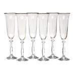 """Набор бокалов для шампанского из 6 шт.""""анжела"""" 190 мл."""