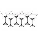 "Набор бокалов для мартини из 6 шт. ""клара"" 280 мл."