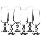 """Набор бокалов для шампанского из 6 шт. """"клаудия"""" 180 мл."""