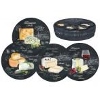 Набор из 4-х десертных тарелок Мир сыров