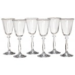 "Набор бокалов для вина из 6 шт.""анжела"" 185 мл."