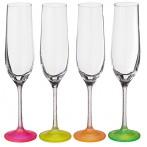 """Набор бокалов для шампанского из 4 шт. """"neon frozen"""" 190 мл."""