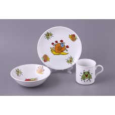 Набор посуды 3 предмета: тарелка, миска, кружка