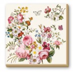 Салфетки бумажные 20шт Цветочный карнавал