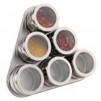 Набор для специй на магнитах + метал.подставка 7 предметов