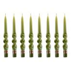 """Набор свечей """"Альфа"""" 8 штук зеленый"""