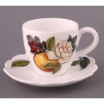 """Чайный набор на 1 персону """"Апельсины И Розы"""" 2 предмета"""