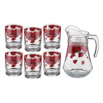 "Набор для сока ""Розарий"" 7 предметов: кувшин + 6 стаканов"