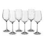 """Набор бокалов для вина из 6 шт. """"виола микс"""" 250 мл."""