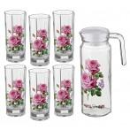 Набор 7 предметов: кувшин + 6 стаканов