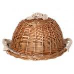Хлебница с крышкой, круглая + салфетка