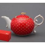 """Заварочный чайник """"Красный в горошек"""""""