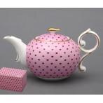 """Заварочный чайник """"Розовый в горошек"""""""