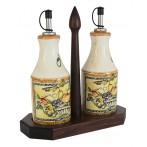 Набор из 2-х бутылок на подставке Старая Тоскана