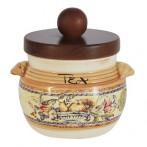 Банка для сыпучих продуктов (чай) Старая Тоскана