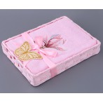 "Полотенце ""Магнолия"", розовое"