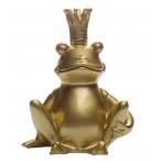 Статуэтка Лягушка-Король (золотая)