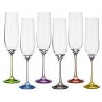 """Набор бокалов для шампанского """"Rainbow"""" 6 штук"""