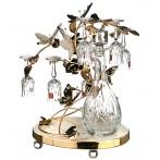 """Набор для ликера на подставке """"Бабочки"""" 7 предметов: графин + 6 рюмок"""