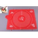 Набор: силиконовый коврик для раскатки теста + скребок