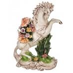 """Статуэтка """"Белый конь в цветах"""""""