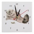 "Часы ""Кошки и кузнечик"""