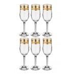 """Набор  фужеров для шампанского """"Кристалл"""" 6 штук"""