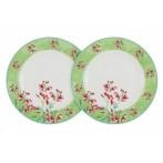 Набор из 2-х закусочных тарелок Цветущий горошек