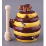 Банка для меда + деревянная палочка