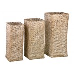 Набор из 3-х плетенных корзин