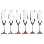 """Набор бокалов для шампанского из 6 шт. """"барбара декорейшн"""" 250мл."""