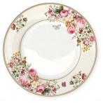 Тарелка обеденная Цветочный карнавал, светлая