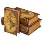 """Набор шкатулок-книг """"Карта мира"""" из 3 шт."""