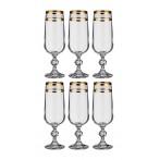 """Набор бокалов для шампанского 6 штук  """"Клаудия"""""""