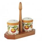 Набор для специй: солонка и перечница на подставке Апельсины