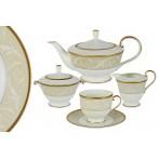 Чайный сервиз из 17 предметов на 6 персон Ноктюрн Голд
