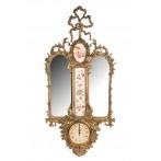 Зеркало настенное с часами кварцевыми