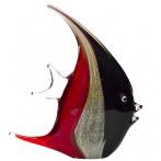 Статуэтка стеклянная Рыба красно-черная