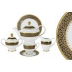 Чайный сервиз  23 предмета на 6 персон Чёрное золото
