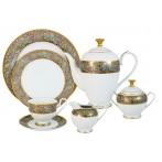 Чайный сервиз Розовый берег 42 предмета на 12 персон