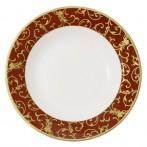 """Набор суповых тарелок (белый с красным) """"Анатолия"""""""