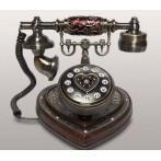 Телефон кнопочный (дерево)