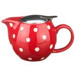 Заварочный чайник с металлической крышкой