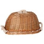 Хлебница с крышкой овальная