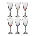 "Набор бокалов для вина ""Анжела микс"" из 6 шт."