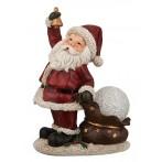 "Фигурка ""Дед мороз"" с led-подсветкой, работает от батареек."