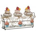 Набор банок для сладостей из 3 шт. на подставке